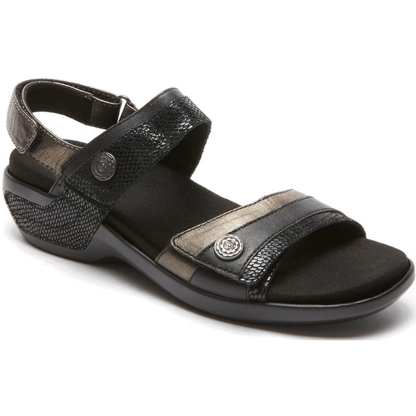 Aravon Katherine Sandal in Black Multi at Mar-Lou Shoes