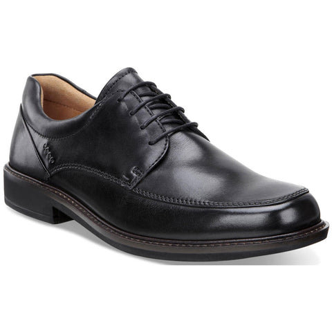 ECCO Holton Apron Toe Tie in Black Leather at Mar-Lou Shoes