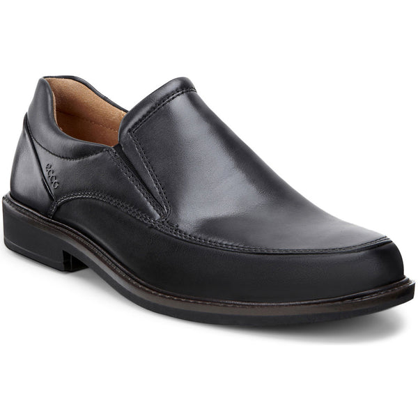 ECCO Holton Apron Toe Slip-On in Black Leather at Mar-Lou Shoes