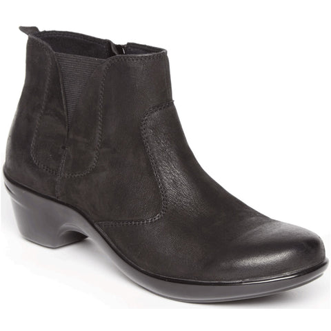 Aravon Kitt Bootie in Black Leather at Mar-Lou Shoes