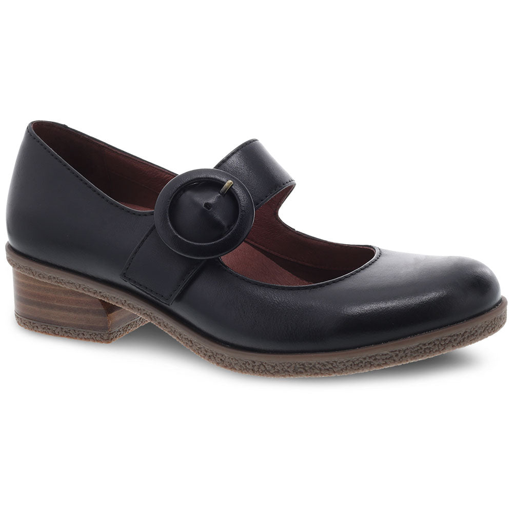 Dansko Brandy in Black Waterproof Burnished Leather at Mar-Lou Shoes