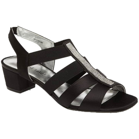 Eve Sandal in Black Satin