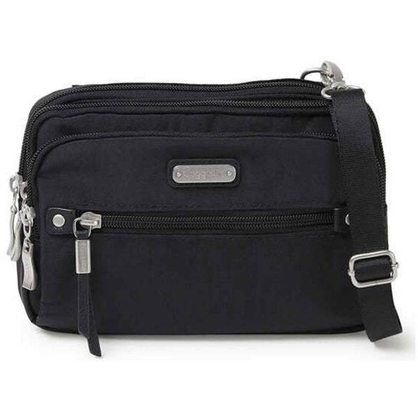 baggallini Time Zone RFID Crossbody Bag in Black at Mar-Lou Shoes