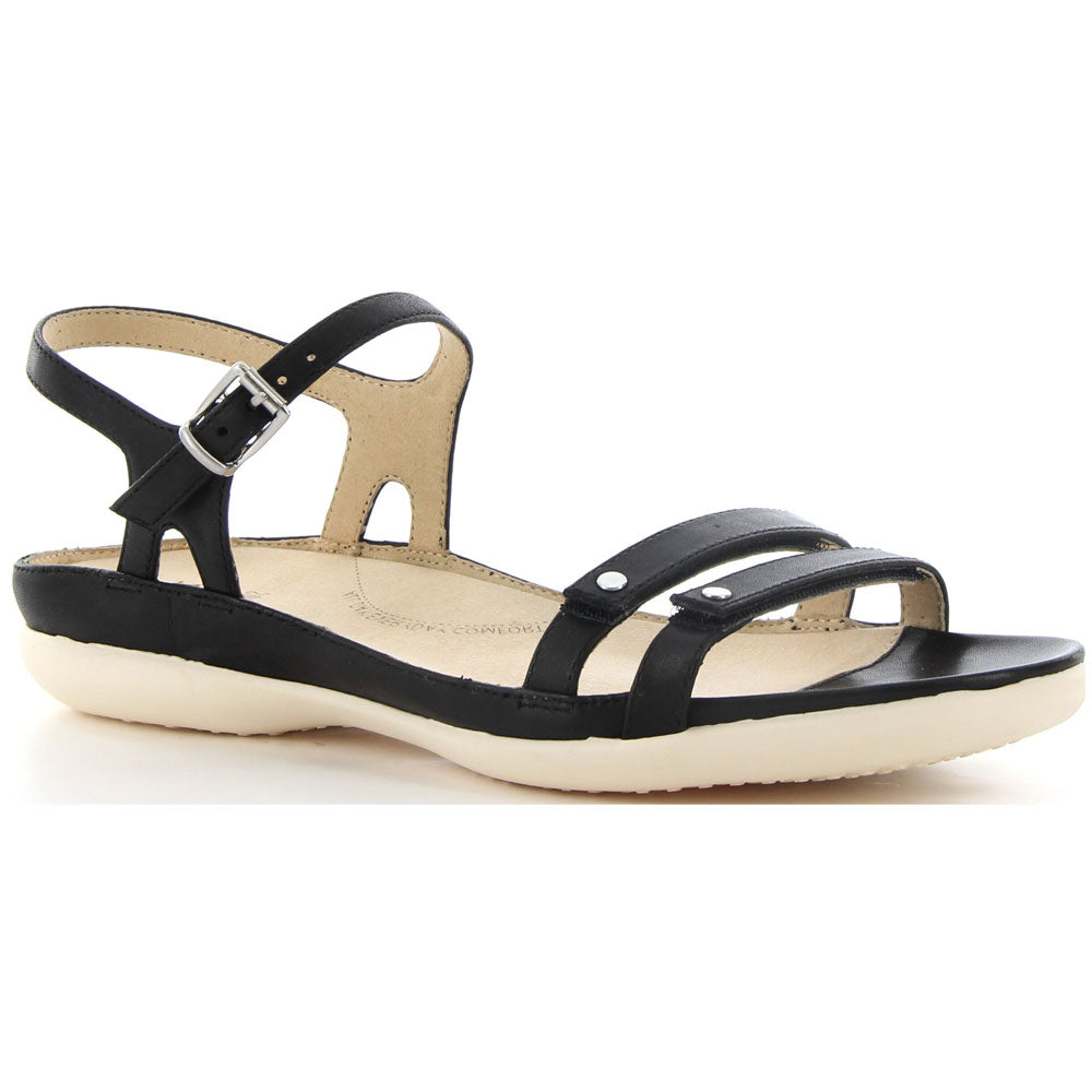 Breeze Sandal in Black Leather