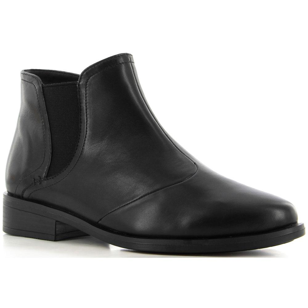 Ziera Scarlet Bootie in Black Leather at Mar-Lou Shoes