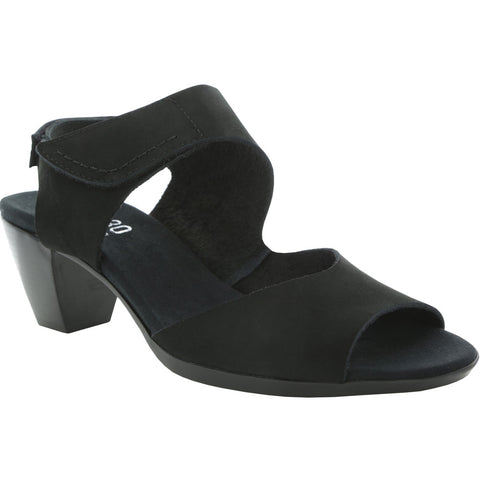 Fabiana Sandal in Black Nubuck