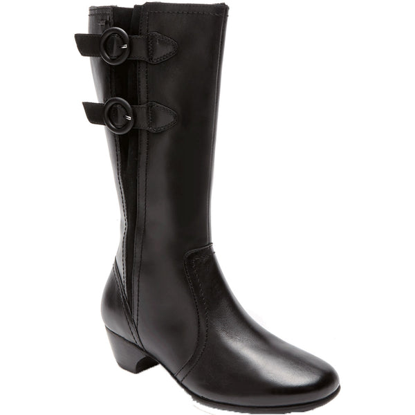 Aravon Pauline Waterproof Boot in Black at Mar-Lou Shoes