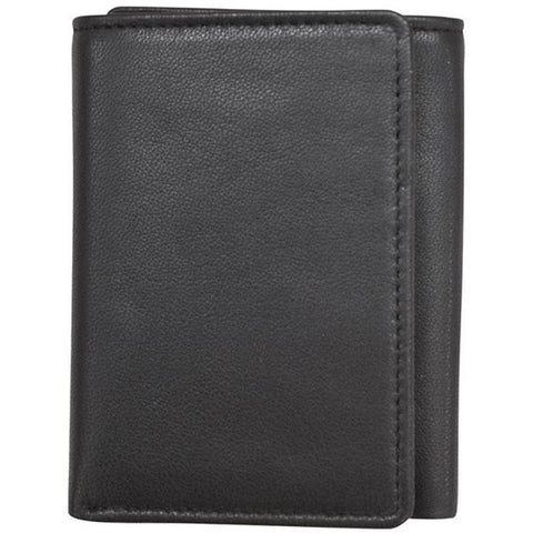 ILI New York RFID Trifold Wallet in Black Sheepskin at Mar-Lou Shoes