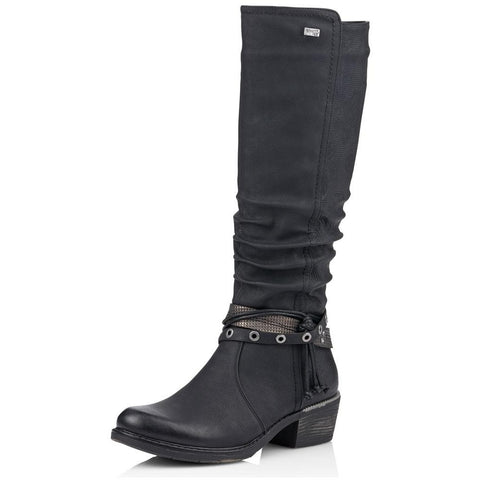 Remonte R1770 Boot in Black Leather at Mar-Lou Shoes