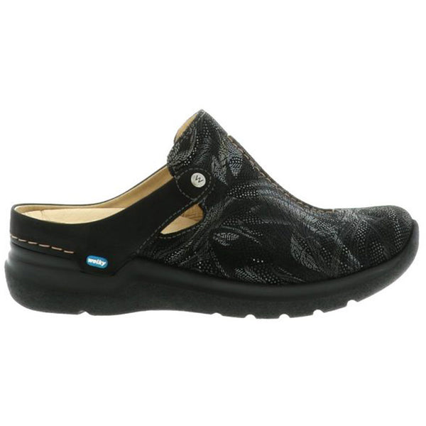 Wolky Holland in Black Antique/Palm Suede at Mar-Lou Shoes