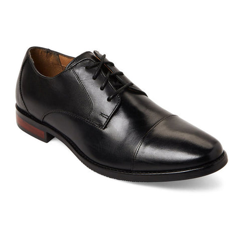 Matera II Cap Toe Oxford in Black Leather