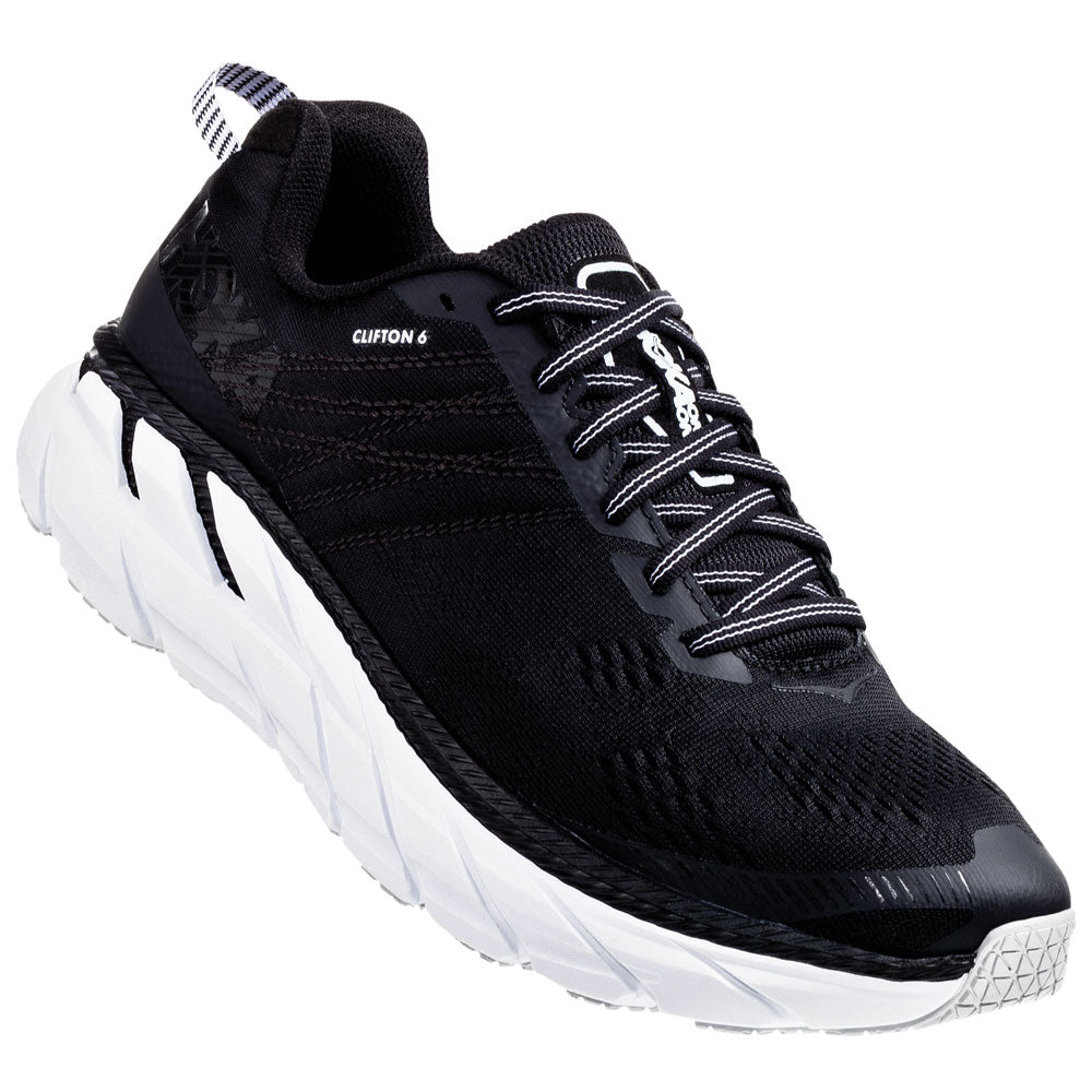 Men's Clifton 6 in Black/White