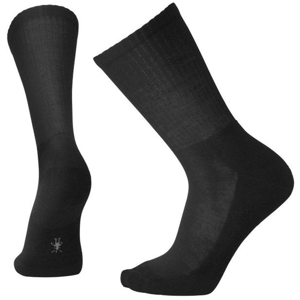Men's Heathered Rib Socks in Black