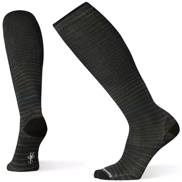 Smartwool Men's Compression Cruisin' Along Print OTC Socks in Black at Mar-Lou Shoes