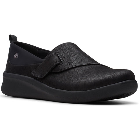 Clarks Sillian 2.0 Ease in Black Synthetic at Mar-Lou Shoes