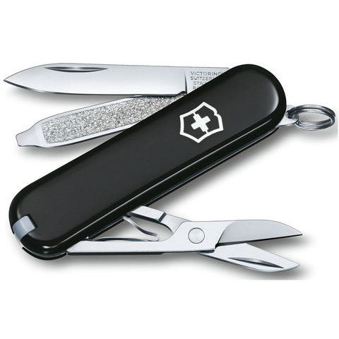 Swiss Army Classic Small Swiss Army Pocket Knife in Black at Mar-Lou Shoes