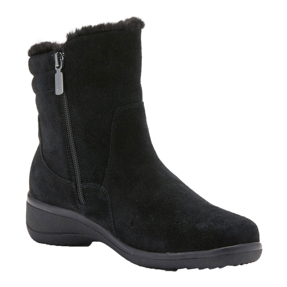 Silas Boot in Black Suede