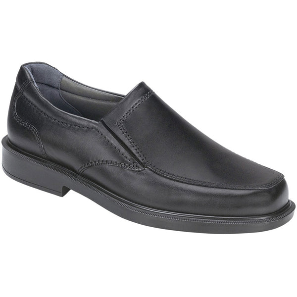 SAS Diplomat Loafer in Black Leather at Mar-Lou Shoes
