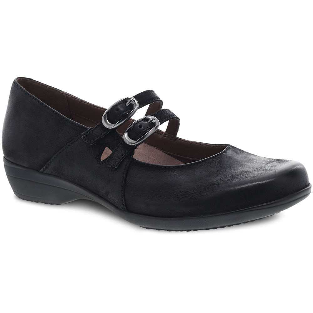 Dansko Fynn in Black Burnished Nubuck at Mar-Lou Shoes