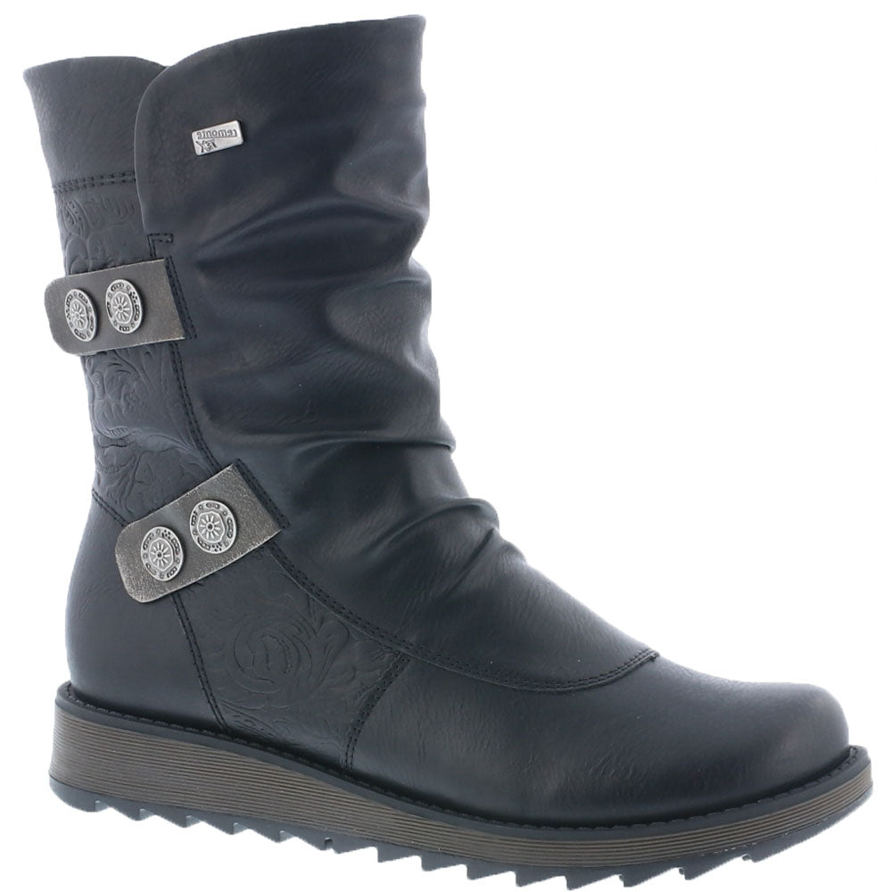 D8885 Boot in Black Leather