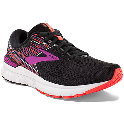Brooks Women's Adrenaline GTS 19 in Black/Purple/Coral at Mar-Lou Shoes