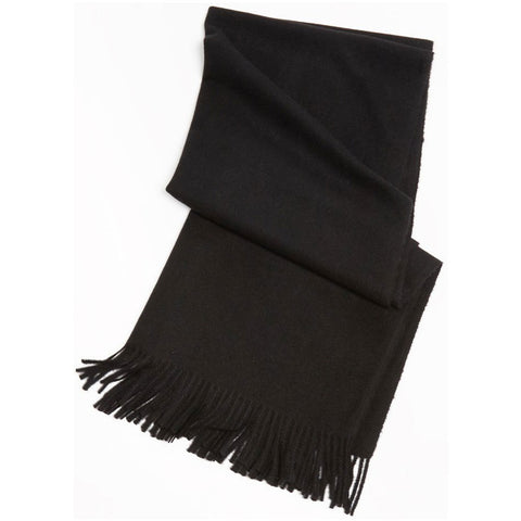 Look by M Soft Basic Cashmere Scarf in Black at Mar-Lou Shoes