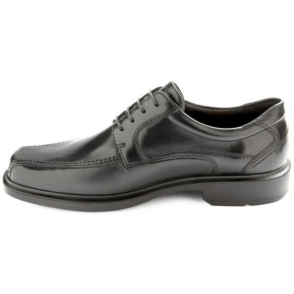 ECCO Helsinki Bike Toe Lace in Black Leather at Mar-Lou Shoes