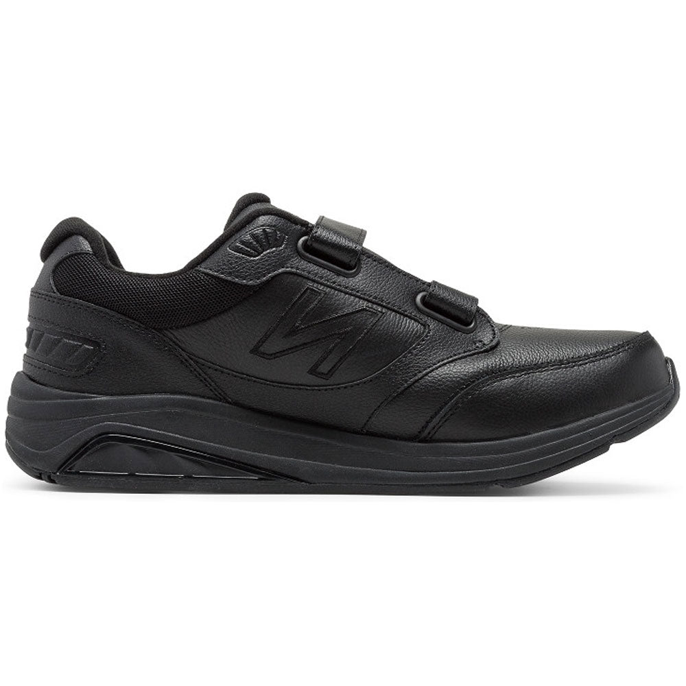 New Balance Men's 928v3 Hook-and-Loop in Black Leather at Mar-Lou Shoes