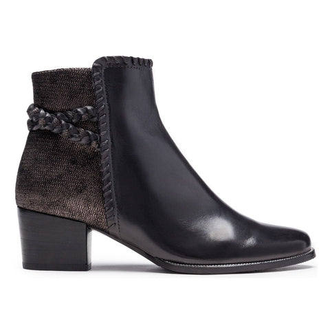 Isabel 54 Boots in Black Pepper/Piombo Leather Combi