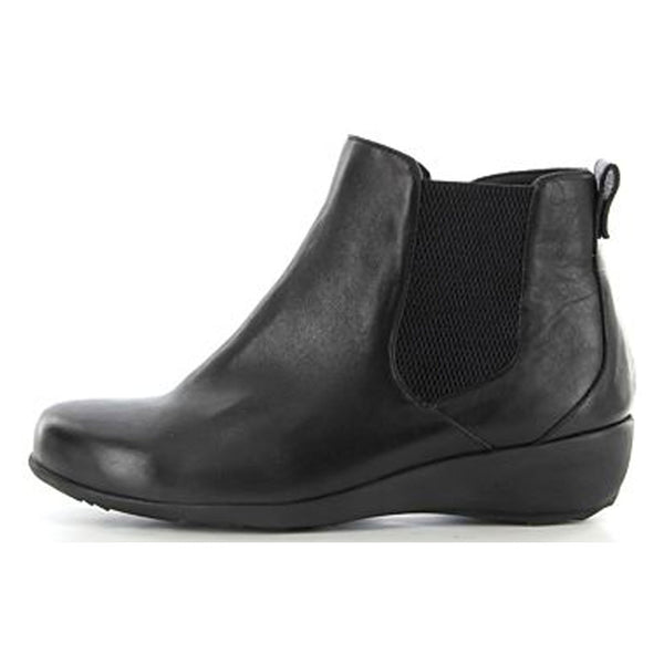 Ziera Shanghai Bootie in Black Leather at Mar-Lou Shoes