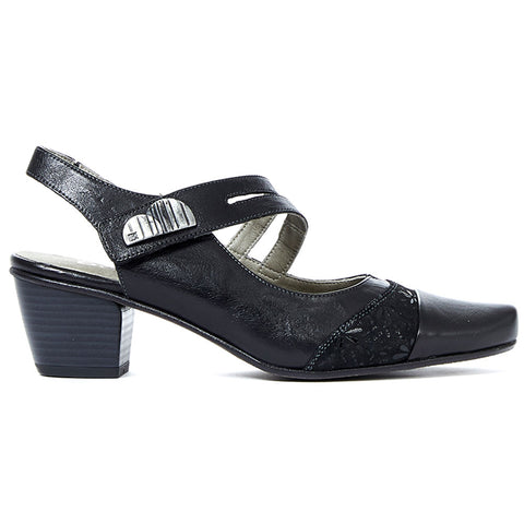 Triana 6730 Heel in Black Leather/Suede Combo