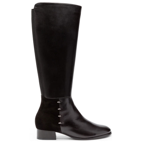 Cristion 10 Boots in Black Leather/Suede Combi