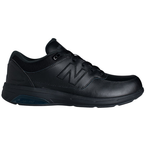 New Balance Men's 813 in Black Leather at Mar-Lou Shoes