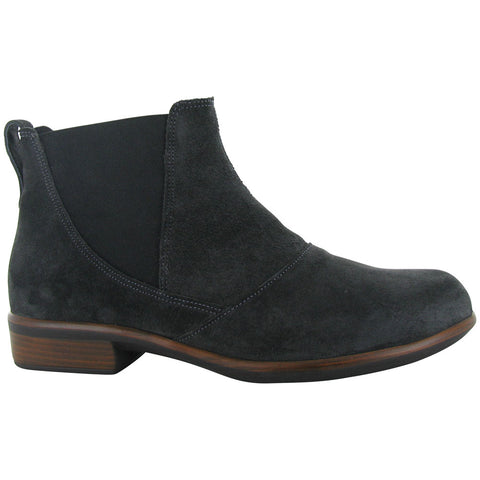 Naot Ruzgar Bootie in Oily Midnight Suede at Mar-Lou Shoes