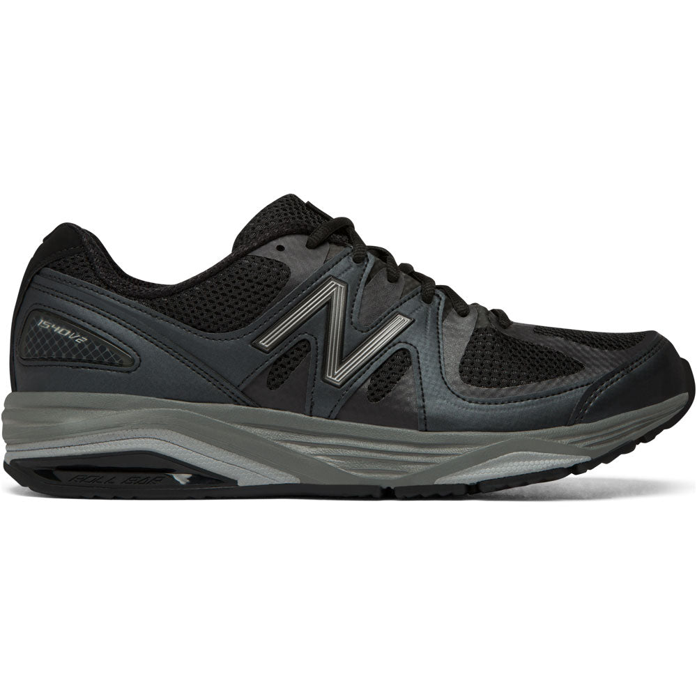 Men's M1540v2 Running Shoe in Black Mesh