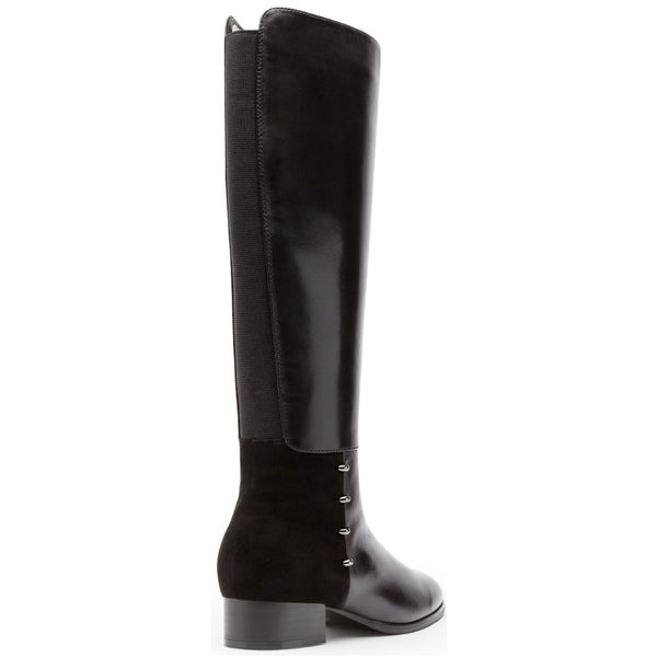 Regarde Cristion 10 Boots in Black Leather/Suede Combi at Mar-Lou Shoes