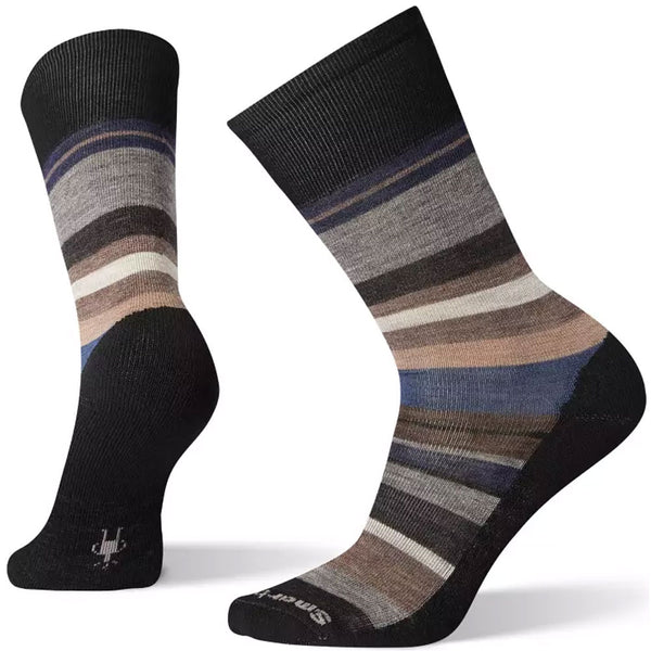 Smartwool Men's Saturnsphere Socks in Black/Deep Navy at Mar-Lou Shoes