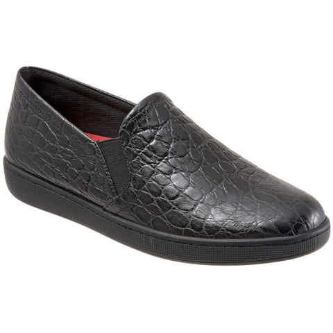 Americana Slip On in Black Croc