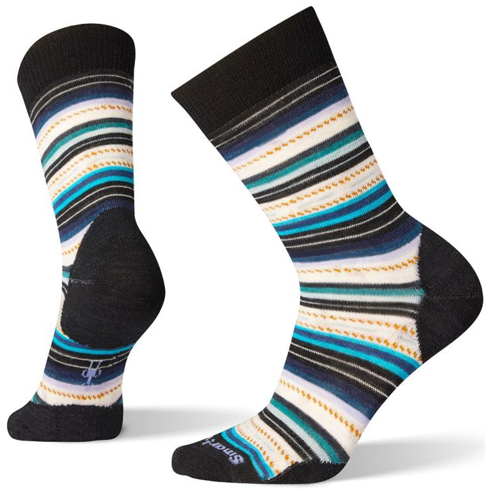 Smartwool Women's Margarita Socks in Black/Deep Navy at Mar-Lou Shoes