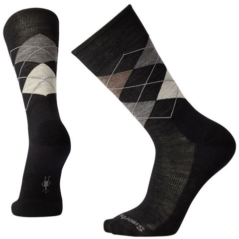 Men's Diamond Jim Crew Socks in Black/Fossil
