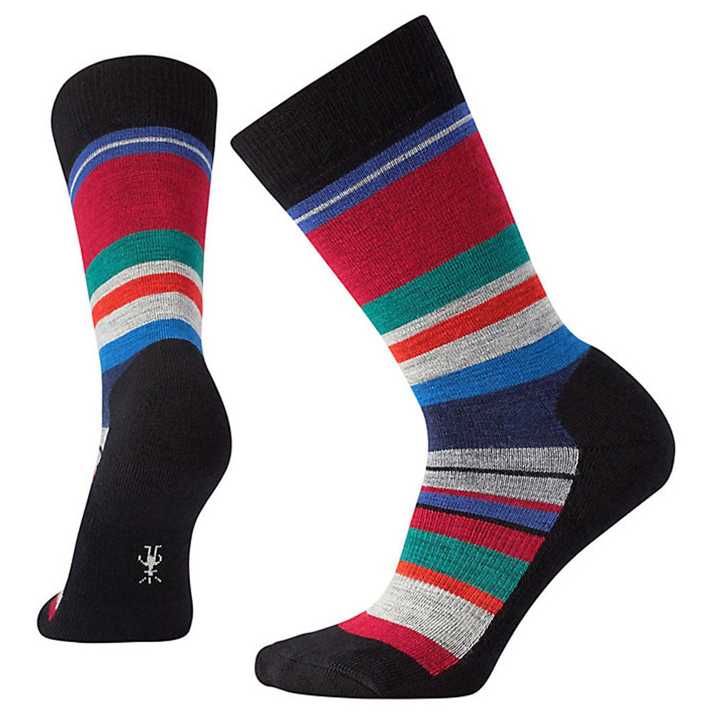 Women's Saturnsphere Crew Socks in Black Multi Stripe