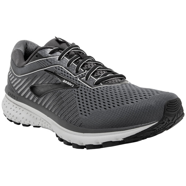 Brooks Men's Ghost 12 in Black/Pearl/Oyster at Mar-Lou Shoes