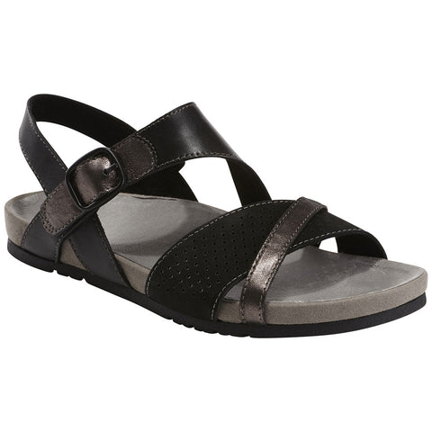 Linden Laguna Sandal in Black/Pewter