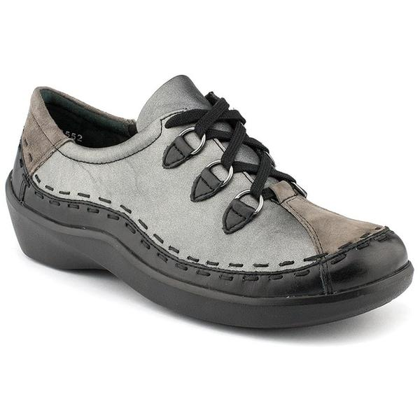 Ziera Allsorts in Black/Slate/Pewter Leather at Mar-Lou Shoes