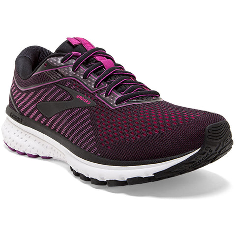Brooks Women's Ghost 12 in Black/Pink at Mar-Lou Shoes