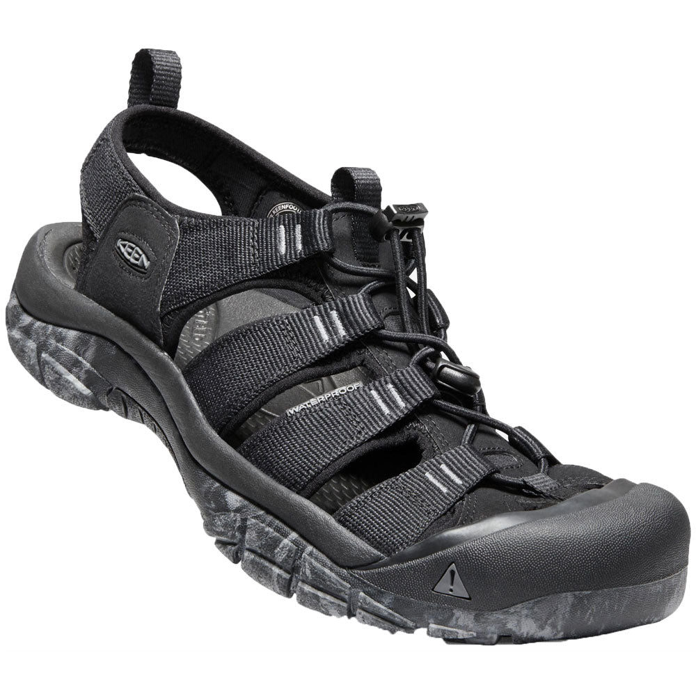 Newport H2 Sandal in Black/Swirl Outsole