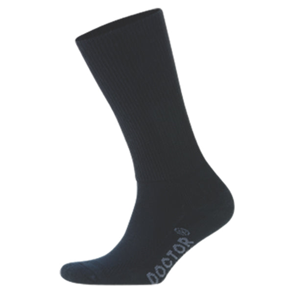 Foot Zen Diabetic Crew Sock in Black at Mar-Lou Shoes