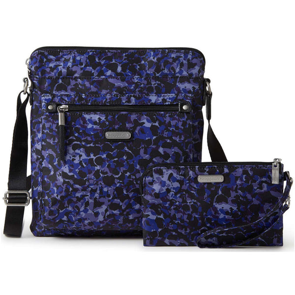 baggallini Go Bagg with RFID Phone Wristlet in Abstract Bloom at Mar-Lou Shoes