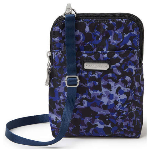 Baggallini Take Two RFID Bryant Crossbody in Abstract Bloom at Mar-Lou Shoes