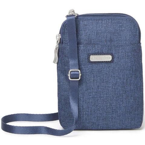 Baggallini Take Two RFID Bryant Crossbody in Navy at Mar-Lou Shoes